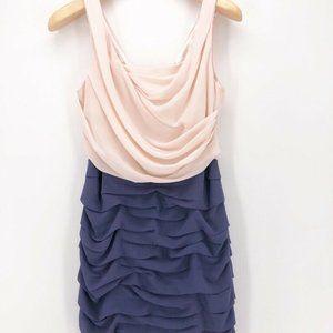 Express Womens Dress Pink Blue Ruffle 10